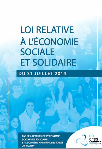 Loi relative à l'économie sociale et solidairedu 31 juillet 2014