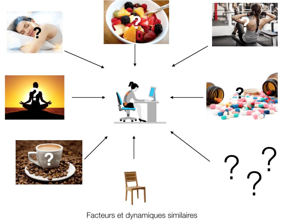 facteurs et dynamiques similaires dans une chaine de résultats