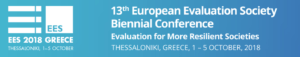 13th EES Biennial Conference: Evaluation for more resilient societies